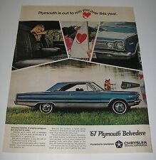 Magazine Ad 1967 Automobile Chrysler Plymouth Belvedere Satelite Win You Over