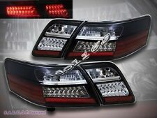 07-09 Toyota Camry Black Euro LED Tail Lights Brake Lamps