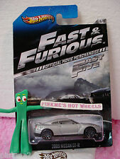 2013 Fast & Furious #6/8 '09 NISSAN GT-R 2009 Hot Wheels ☆Gray; 10sp☆Fast Five