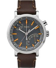 Timex Metropolitan+ TW2P92300 Grey/Brown Leather Analog Quartz Men's Watch