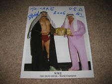 WWE//NWA/AWA Iron Sheik Autographed 8X10 Photo Hand-Signed Wrestling 2006