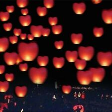 Heart Shape Chinese Lanterns Paper Sky Fire Lamp For Wish Wedding Party 10pcs