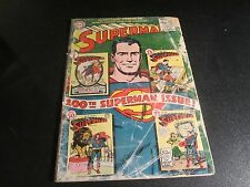SUPERMAN #100  LOWER GRADE/COMPLETE COMIC RARE HAS A PIC OF ISSUE #1 ON COVER!