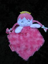 Baby Gear Hot Pink White Princess Queen Doll Lovey Security Blanket