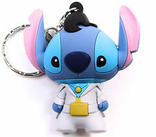"Disney 3D Figural Keyring Series 3 ELVIS STITCH 3"" KEYCHAIN Blind Bag NEW"