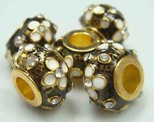 Clover Faberge Egg Bead Drip Gum Lime Clear Crystal Fit sterling 925 Bracelet ax