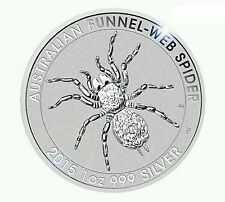 2015 Australian Funnel-Web Spider 1 oz Troy Ounce .999 Silver Bullion Coin