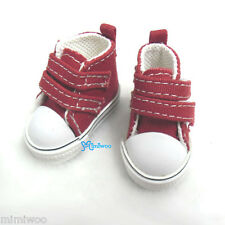 Yo-SD 1/6 Bjd Dollfie Leeke Doll Fashion Shoes 2 Strap Denim Sneaker Boots Red