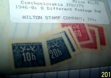 CZECHOSLOVAKIA 1946 STAMP #J70-J79- 8 DIFF POSTAGE DUE STAMPS  LOT 14