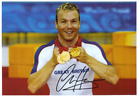 Hand Signed 8x12 photo SIR CHRIS HOY - LONDON Olympics 2012 - GOLD MEDAL