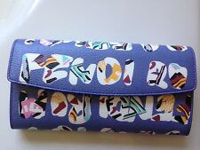 Authentic NIB Fendi Multicolor Trifold Saffiano Wallet md. Italy