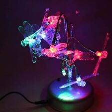 Novel Color Changing LED Tree Branch Dragonfly Night Light Table Lamp Gift