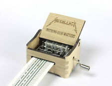 Metallica - Nothing Else Matters / Hand Crank Paper Strip Wooden Music Box
