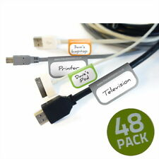 Cable Labels - Self Adhesive Pack of 48