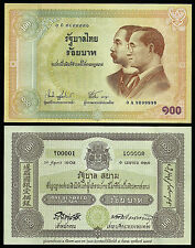 Thailand 100 Baht 2002 The Centenary of Thai Banknote Commemorative P-110, UNC