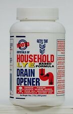 New ROOTO Crystals of Household 100% Lye Drain Opener 16oz Sink Tubs SOAP MAKING