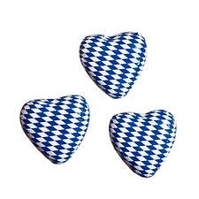 50er SET Wiesn Herz weiß-blau, lose 9 g / Schokolade Herz