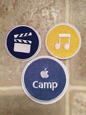 Apple Camp Patch Stickers Store Rare 2013 Set Of 3 iMovie iTunes Mac