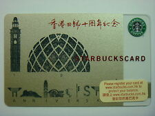 2007 Starbucks Hong Kong #06~ 10th ANNIVERSARY CARD
