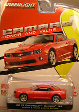 SIX 6 GREENLIGHT 1:64 SCALE DIECAST METAL RED 2012 CHEVROLET CAMARO SS