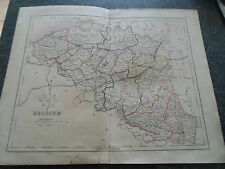 Antique Map BELGIUM From The College Atlas For Schools+Families 1860