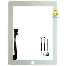 New White Replacement Digitizer Touch Screen Glass For iPad 3 or 4 + Tools