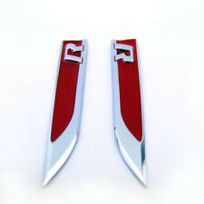 2Pcs R Car Side Fender Skirts Knife Type Sticker Badge Emblems For AUTO R LINE