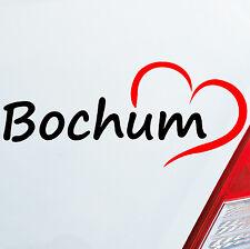 Pegatina Coche Bochum ca del área de ruhr 18 x8cm Corazón Ciudad 796
