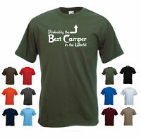 'Probably the Best Camper in the World' Funny Camping Caravan Gift T-shirt