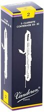 Vandoren CR152 Contrabass Clarinet Traditional Reeds Strength 2; Box of 5
