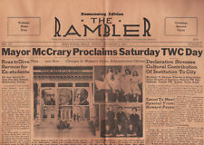 11-1-1940 Texas Wesleyan College Newspaper Fort Worth Mayor McCrary TWC Day
