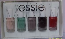 5 Lot Essie Nail Polish~ Ballet Slippers,Turquoise&Caicos,Chinchilly,Wicked....