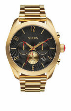 New Nixon A366510 Bullet Chrono All Gold / Black Women's Watch NIB