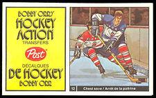 1972 73 POST HOCKEY ACTION TRANSFERS BOBBY ORR 12 NM YVAN COURNOYER ROGIE VACHON