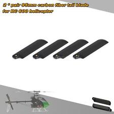 Top-sell 4X Carbon Fiber 95mm Tail Blades for Align  600 RC Helicopter T8M9