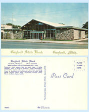 Gaylord State Bank Michigan 1964 Postcard - Architecture