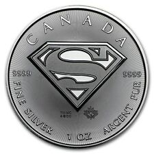 2016 ~ 1~OZ ~ .9999 SIVER ~ SUPERMAN SHIELD  COIN ~ ROYAL CANADIAN MINT ~ $27.88