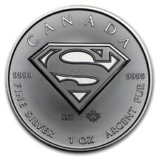 2016 ~ 1~OZ ~ .9999 SIVER ~ SUPERMAN SHIELD  COIN ~ ROYAL CANADIAN MINT ~ $28.88