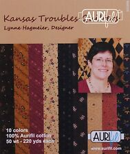 Aurifil Cotton Mako 50wt Quilting Thread Kansas Troubles Collection
