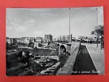 SASSARI Ponte e fontana Rosello vecchia cartolina