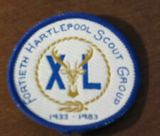 GB Scouts - 40th Hartlepool Scout Group 50 years anniversary 1933-1983 Badge.
