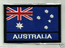 """""""AUSTRALIAN FLAG"""" Embroidered Patch THE SOUTHERN CROSS Australia Iron On AUSSIE"""