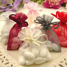 100 Pcs Little Wedding Party Drawstring Organza Jewelry Packing Bags Pouch