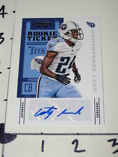 Coty Sensabaugh: 2012 Contenders #119 RC Auto - Tennessee Titans Clemson Tigers