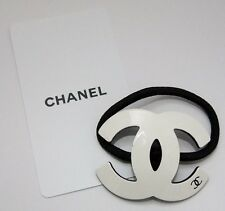 Brand new with card Chanel white CC logo VIP gift hair tie