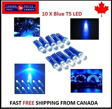 10X T5 Blue Instrument Panel Cluster Dash Led Lights Bulbs 17 73 74 HID Bright
