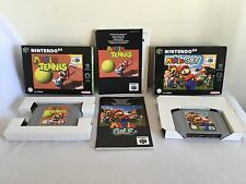 MARIO GOLF & MARIO TENNIS Nintendo 64 N64 GAME BUNDLE COMPLETE Pal