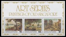 1976 SINGAPORE PAINTINGS OF OLD SINGAPORE SOUVENIR SHEET MINT NEVER HINGED