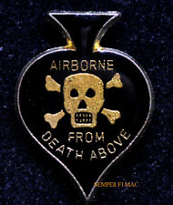 AIRBORNE DEATH FROM ABOVE SPADE HAT LAPEL PIN US ARMY MARINES VETERAN GIFT WOW