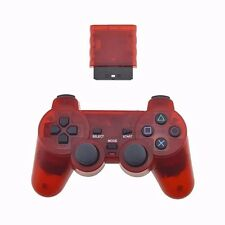 Red Playstation 2 Generic Wireless Controller for PS2 Console